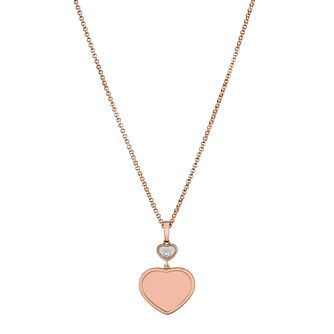 Chopard Happy Hearts 18ct Rose Gold Pendant - Product number 6432476