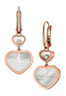 Chopard Happy Hearts 18ct Rose Gold Drop Earrings - Product number 6432654