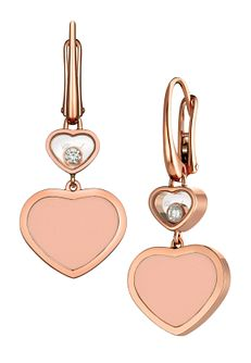 Chopard Happy Hearts 18ct Rose Gold Drop Earrings - Product number 6432662