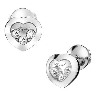 Chopard Happy Diamonds 18ct White Gold Diamond Earrings - Product number 6432670