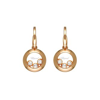 Chopard Happy Diamonds 18ct Rose Gold 0.26ct Earrings - Product number 6432700