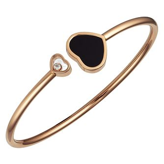Chopard Happy Hearts 18ct Rose Gold Diamond Bangle Medium - Product number 6432786