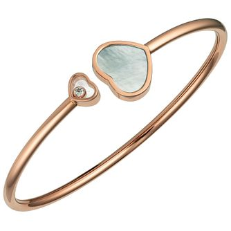 Chopard Happy Hearts 18ct Rose Gold Open Bangle Size S - Product number 6432794