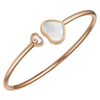 Chopard Happy Hearts 18ct Rose Gold Open Bangle Size M - Product number 6432808