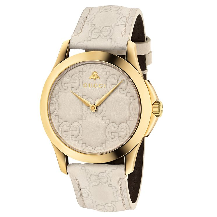 Gucci G-Timeless Ladies' Gold Plated Strap Watch - Product number 6433022