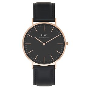 Daniel Wellington Sheffield Men's Black Leather Strap Watch - Product number 6433804