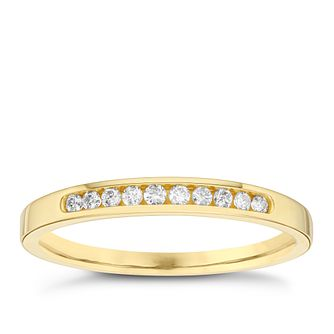 18ct Yellow Gold 0.10ct Diamond 10 Stone Eternity Ring - Product number 6434835