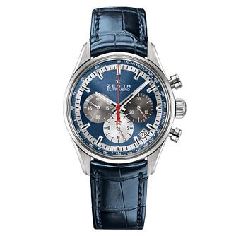 Zenith El Primero Men's Blue Chronograph Strap Watch - Product number 6435602