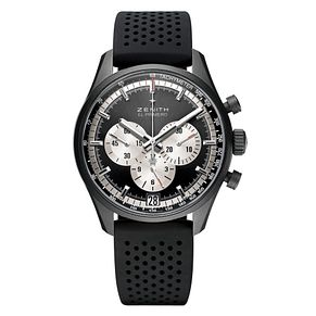 Zenith El Primero Men's Aluminium Black Strap Watch - Product number 6435637