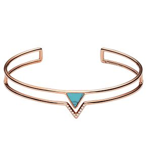 Fossil Ladies' Rose Gold Triangle Open Cuff Bangle - Product number 6440029