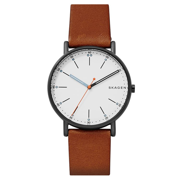 Skagen Men's Signatur Brown Leather Strap Watch - Product number 6440134