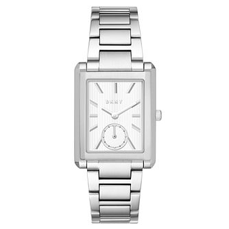 DKNY Ladies' Rectangle Stainless Steel Bracelet Watch - Product number 6440142