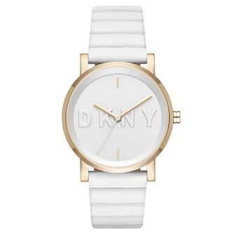 DKNY Ladies' White Leather Strap Watch - Product number 6440193