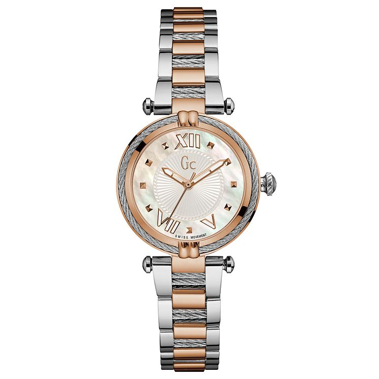 Gc CableChic Ladies' Two Tone Stainless Steel Bracelet Watch - Product number 6440320