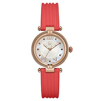 Gc CableChic Ladies' Orange Silicone Strap Watch - Product number 6440401