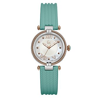 Gc CableChic Ladies' Green Silicone Strap Watch - Product number 6440428