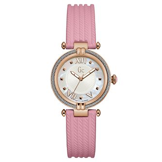 Gc CableChic Ladies' Pink Silicone Strap Watch - Product number 6440436