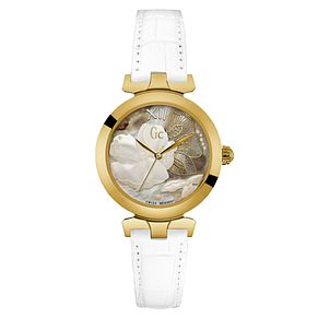 Gc LadyBelle Ladies' White Leather Strap Watch - Product number 6440487