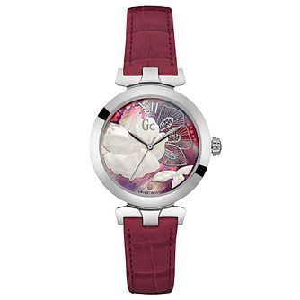 Gc LadyBelle Ladies' Pink Leather Strap Watch - Product number 6440517