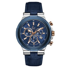 Gc Structura Men's Blue Leather Strap Watch - Product number 6440665