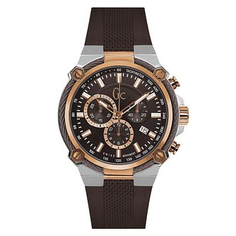 Gc CableForce Men's Brown Silicone Strap Watch - Product number 6440703