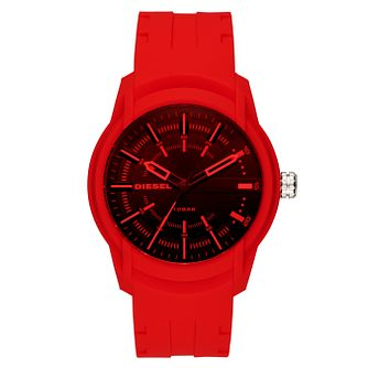 Diesel Men's Red Silicone Strap Watch - Product number 6440738