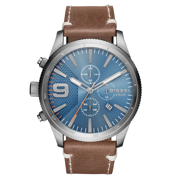 Diesel Men's Brown Leather Strap Watch - Product number 6440746