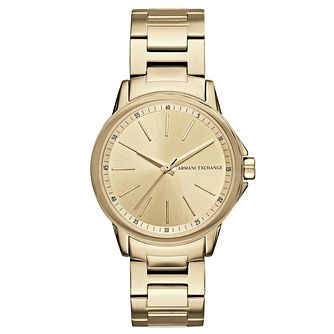 Armani Exchange Ladies' Gold Plated Stainless Steel Watch - Product number 6440789