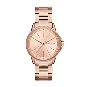 Armani Exchange Ladies' Rose Gold Stainless Steel Watch - Product number 6440797
