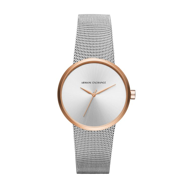 Armani Exchange Ladies' Stainless Steel Mesh Bracelet Watch - Product number 6440819