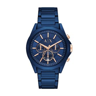 Armani Exchange Men's Blue Stainless Steel Bracelet Watch - Product number 6440886