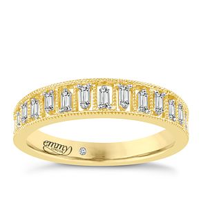 Emmy London 18ct Gold 0.16ct Baguette Cut Diamond Ring - Product number 6442544