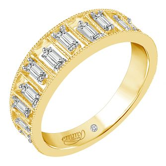 Emmy London 18ct Yellow Gold 2/5ct Baguette Cut Diamond Ring - Product number 6444709