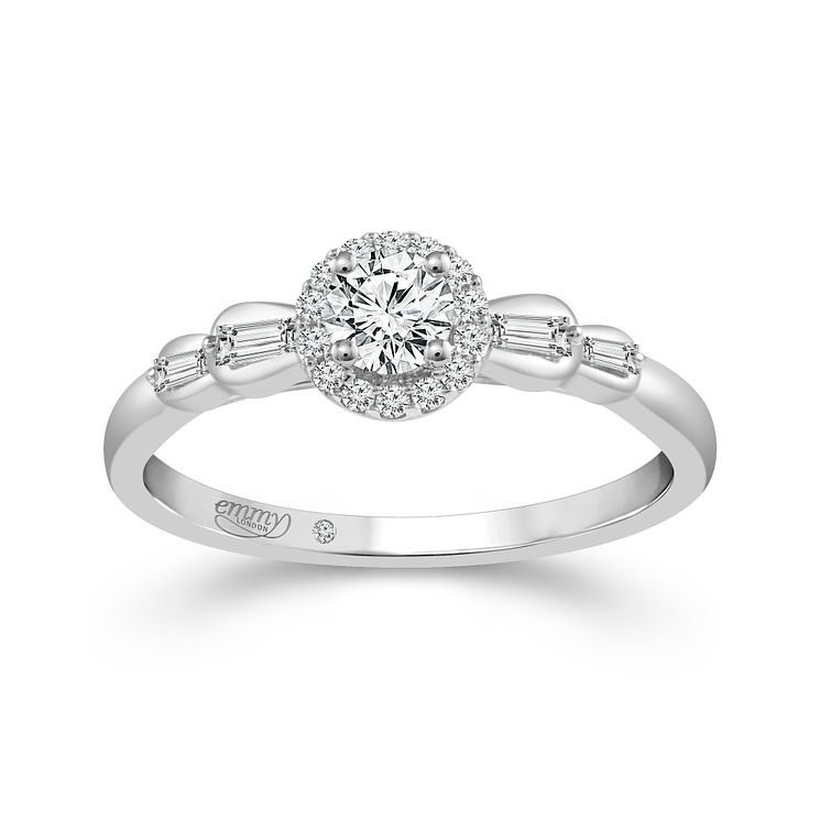 Emmy London Platinum 1/3ct Diamond Ring - Product number 6445748