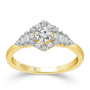 Emmy London 18ct Yellow Gold 1/2 Carat Diamond Ring - Product number 6447619