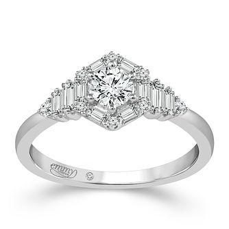 Emmy London 18ct White Gold 1/2 Carat Diamond Ring - Product number 6447740
