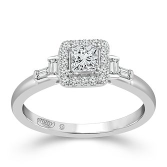 Emmy London Platinum 1/2 Carat Diamond Ring - Product number 6448399