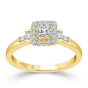 Emmy London 18ct Yellow Gold 1/2 Carat Diamond Ring - Product number 6448550
