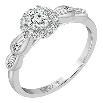 Emmy London Platinum 1/2ct Diamond Ring - Product number 6449352
