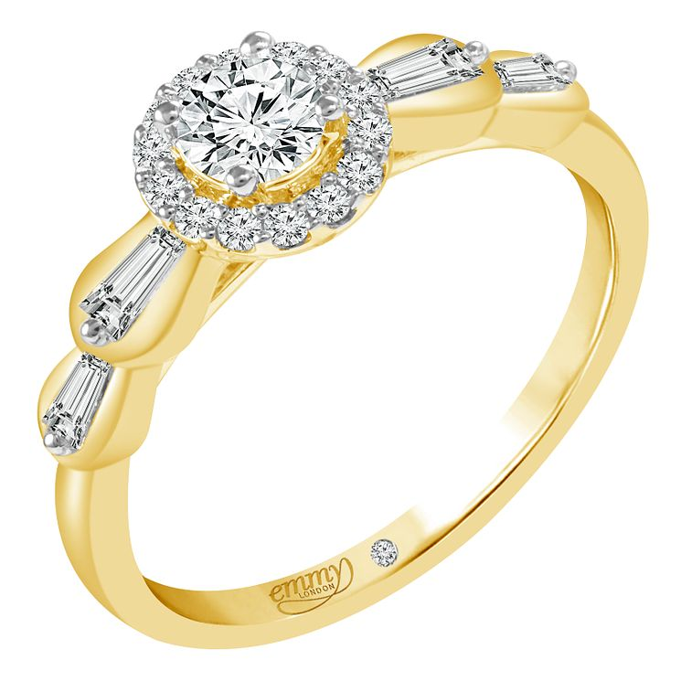 Emmy London 18ct Yellow Gold 1/2ct Diamond Ring - Product number 6449492