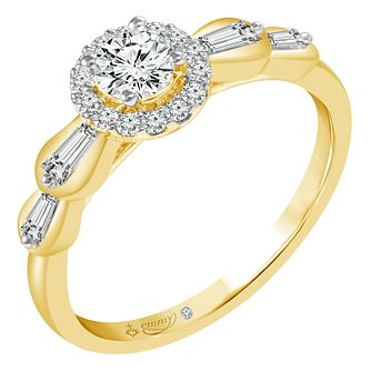 Emmy London 9ct Yellow Gold 1/2ct Diamond Ring - Product number 6449662