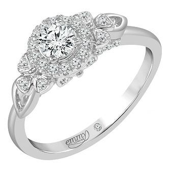 Emmy London Platinum 1/2ct Round Cut Diamond Set Ring - Product number 6450555