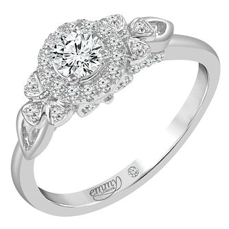 Emmy London 18ct White Gold 1/2ct Round Cut Diamond Set Ring - Product number 6450857