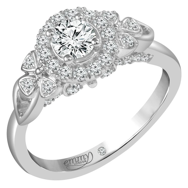Emmy London 18ct White Gold 0.66ct Round Cut Diamond Ring - Product number 6451276