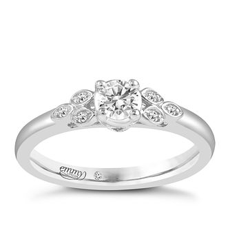 Emmy London Platinum 1/5 Carat Diamond Ring - Product number 6452434