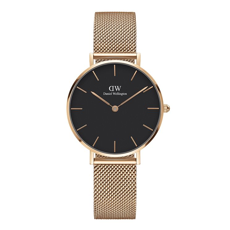 Daniel Wellington Ladies' Rose Gold Plated Mesh Watch - Product number 6453015