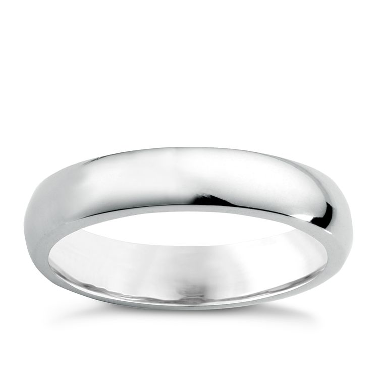 18ct white gold super heavy 4mm court ring - Product number 6472052