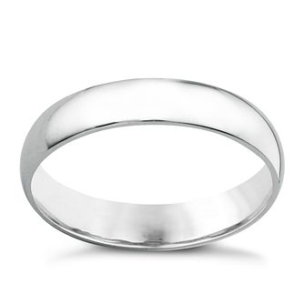 18ct white gold extra heavy 4mm court ring - Product number 6472249