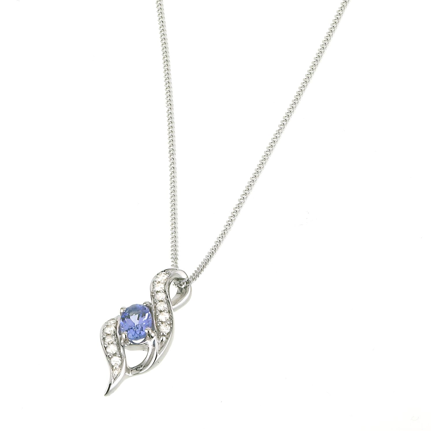 in itm women tanzanite for silver pendant with sterling chain
