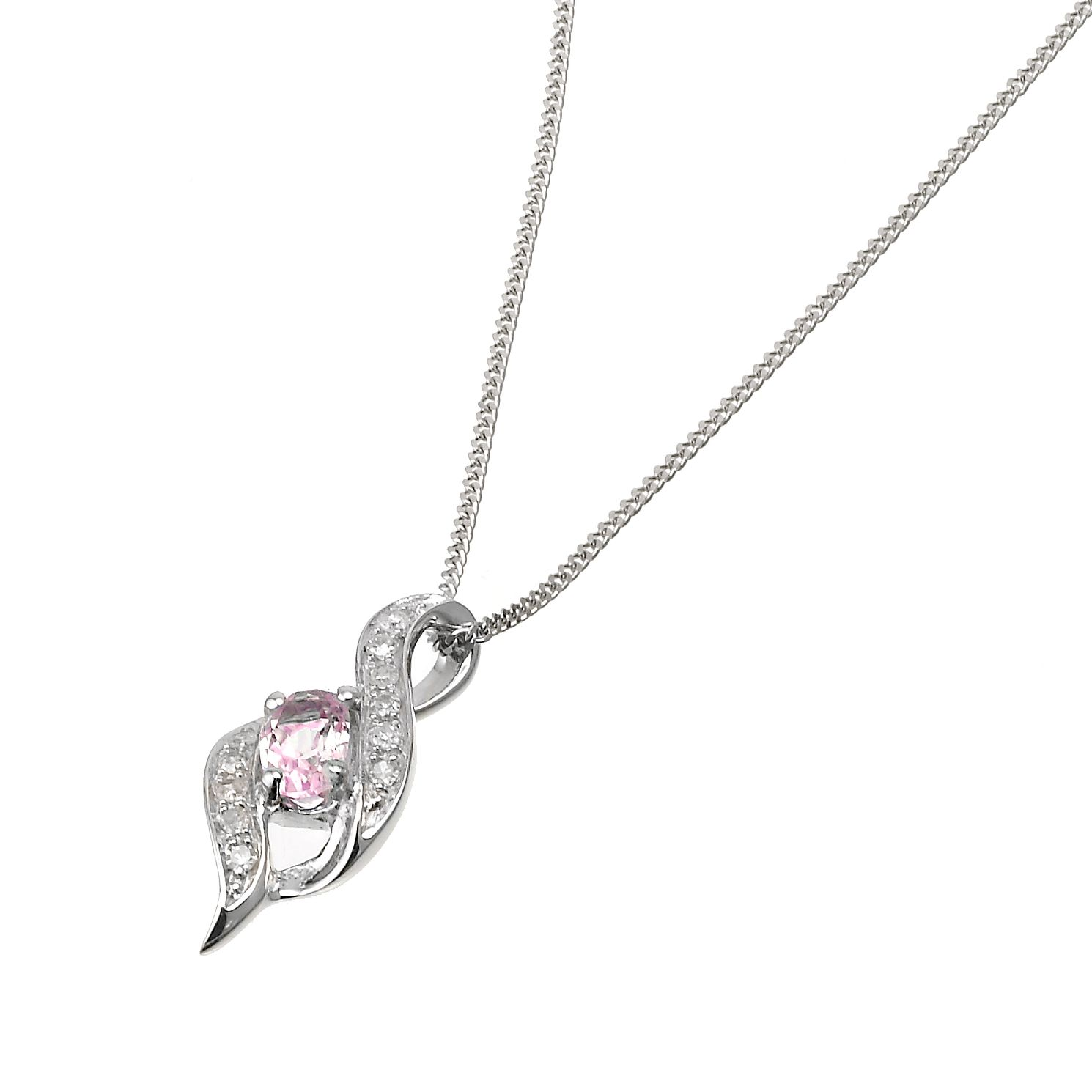 r large love necklace diamond sapphire rose gold small evan sydney pink